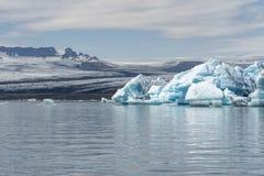 熔化在Jokulsarlon的冰河冰 免版税图库摄影