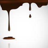 熔化巧克力水滴。 库存图片