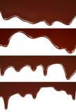 熔化巧克力水滴集合 库存图片