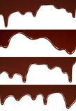熔化巧克力水滴集合 免版税库存图片