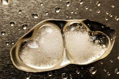 熔化的冰冷的心脏 免版税库存照片