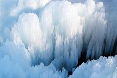 熔化的冰在春天 免版税图库摄影