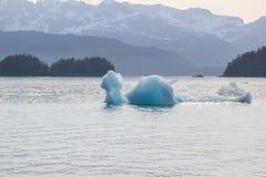 熔化的冰山在一个全球性变暖环境里 库存图片