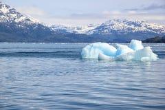 熔化的冰山在一个全球性变暖环境里 免版税库存照片
