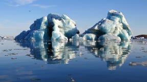 熔化的冰山 免版税库存照片