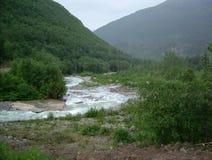 熔化的冰河小河 库存图片