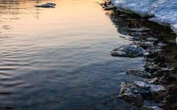 熔化的冰海岸 免版税库存照片