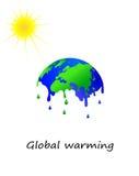 熔化的地球传染媒介 库存图片