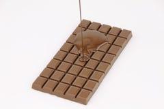 熔化的巧克力水滴 免版税库存图片