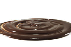 熔化的巧克力 免版税库存图片