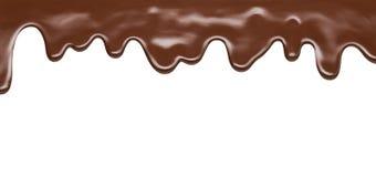 熔化的巧克力 免版税库存照片