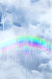 熔化的彩虹 免版税库存图片