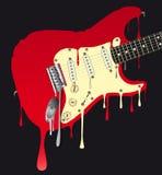熔化的电吉他 库存图片