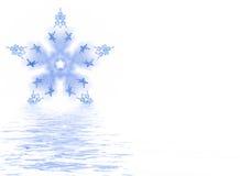 熔化的雪花 库存图片