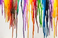 熔化蜡笔五颜六色的摘要 免版税库存照片
