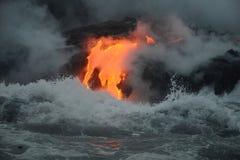 熔岩在夏威夷 库存图片