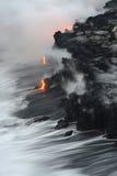 熔岩在夏威夷 免版税库存图片