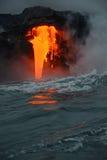 熔岩在夏威夷 免版税图库摄影