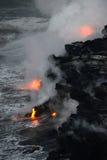 熔岩在夏威夷 图库摄影