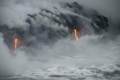 熔岩在夏威夷 免版税库存照片
