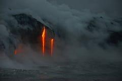 熔岩在夏威夷 库存照片