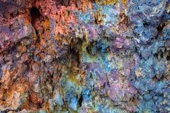 熔岩岩石五颜六色的墙壁  库存照片