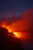 熔岩流在夏威夷 免版税库存图片