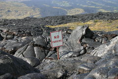 熔岩流夏威夷火山 免版税库存图片