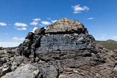熔岩流的横断面 免版税图库摄影