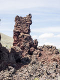 熔岩流纹理  免版税库存照片