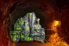 熔岩管 免版税库存照片