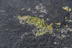 熔岩荒野空中直升机视图在Kilauea火山,大岛,夏威夷附近的 免版税库存图片