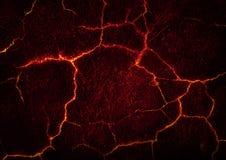 熔岩高明的地面 免版税库存照片