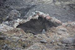 熔岩, Leihrnjukur,冰岛 图库摄影
