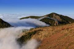 熔岩, Teide国家公园横向。 Tenerife 库存图片