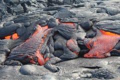 熔岩` s流动的道路 免版税库存图片
