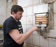 熔炉气体 库存图片