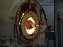 熔炉玻璃设计工 库存图片