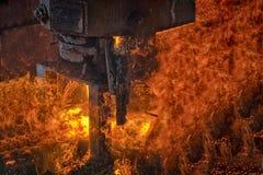 熔炉的火焰和火 库存图片
