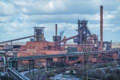 熔炼炉在杜伊斯堡,德国 免版税图库摄影