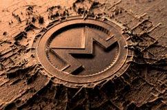 熔铸Monero的Cryptocurrency 库存例证