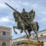 熙德雕象在布尔戈斯,西班牙 免版税库存图片