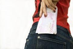 熟悉内情的货币矿穴 免版税库存图片