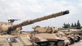 熟悉被编译的坦克 库存图片