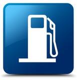 燃料分配器象蓝色方形的按钮 皇族释放例证