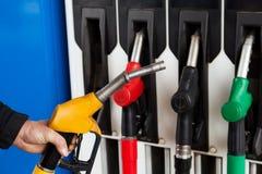 燃料加油泵岗位 免版税库存照片