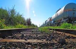 燃料油铁路运输 免版税库存照片
