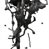 黑燃料油飞溅 库存照片