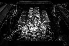 燃料注射了460大块福特引擎550 HP, Ford Mustang的7,5L, 1967年 库存照片