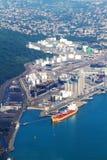 燃料港口存贮 库存图片